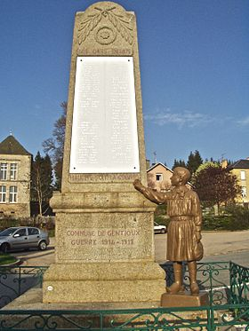 Monument aux morts Gentioux-Creuse